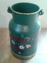 Antique german milk can in Ramstein, Germany