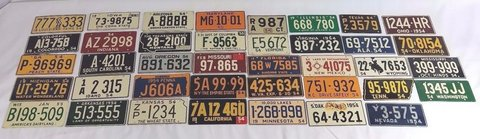 1954/55 Wheaties Post Cereal Prize Miniature Vanity Bike License Plate US STATES 4OB1 in Temecula, California