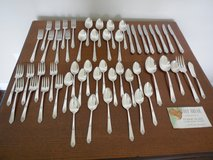 Oneida Community Silverplate- Sweet Briar Tudor Plate Silverware 53 Pieces in Cleveland, Texas