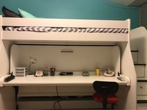 Loft Twin XL Bed with Convertible Desk/Twin Below in Elgin, Illinois