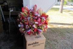christmas wreath in Cherry Point, North Carolina