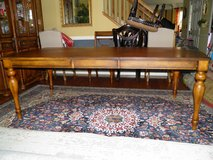 Dinning Room Table ; Kuliwood with Leather side panels,used in Lockport, Illinois