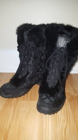 "COACH ""JENNIE"" SIGNATURE WINTER BOOTS SIZE 7 Rabbit Fur in Hinesville, Georgia"