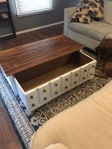 solid wood apothecary coffee table in Camp Lejeune, North Carolina