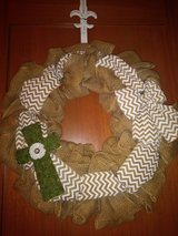 Burlap wreath in The Woodlands, Texas