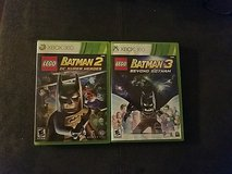 xbox360 batman lego2 and 3 in Fort Bliss, Texas