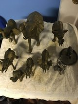 7 Brass & 2 Silver Plated Elephants in Fort Knox, Kentucky