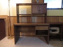 Tall Desk and Hutch  Perfect Condition  LIKE NEW!! in Lockport, Illinois