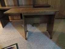 Nice Laminate Side Console Table with drop down top  LIKE NEW!! in Naperville, Illinois