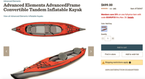 Inflatable 2-Person Kayak (Advanced Elements) + Gear in Okinawa, Japan