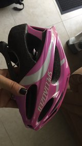 Pink bicycle helmet in Oceanside, California