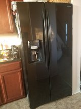 Samsung Black Side by Side Refridgerator in Sugar Grove, Illinois