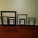 Black frames-gallery wall in The Woodlands, Texas
