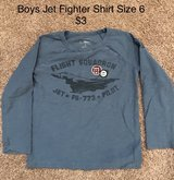 Boys Jet Fighter Shirt Size 6 in Oswego, Illinois
