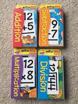 Math Facts flash cards lot in St. Charles, Illinois