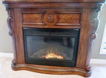 Gorgeous Electric Heating Carved Cherry Wood Fireplace w/remote control in Katy, Texas