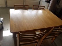 Solid Wood DIning Room table with 4 Wood Chairs. in OCEANSIDE in Temecula, California