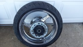 Cbr 600RR chrome rear rim and tire in Lawton, Oklahoma