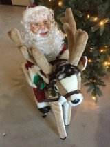 Electric moving reindeer with santa in Tinley Park, Illinois