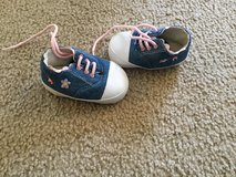 Denim lace up shoes..size 3 in Naperville, Illinois
