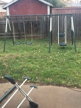 Swing set in Lawton, Oklahoma