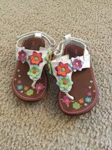 Carter's flower sandals....size 5 in Naperville, Illinois