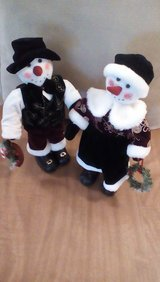 Mr and Mrs Snowman in Chicago, Illinois