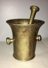 Antique Heavy BRASS MORTAR & PESTLE Apothecary in Naperville, Illinois