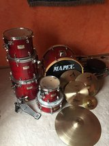 Drum and cymbal set in Westmont, Illinois
