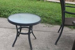 Cute Round Patio Side Table in Kingwood, Texas