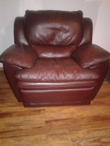 Genuine Leather love seat two chairs all 4 seats recline in Alamogordo, New Mexico