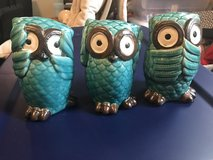 No Evil Ceramic Owls Set in Dover, Tennessee