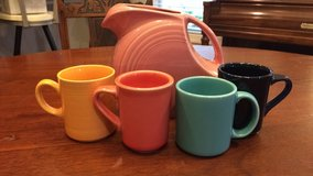 Lot Fiestaware HCL pitcher mugs in Beaufort, South Carolina