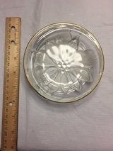 "Round Gold Rimmed Poinsetta Candy Dish  5"" in Chicago, Illinois"
