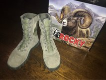 Rocky boots 7.5 mens, used 4 days in Fort Eustis, Virginia