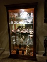Beautiful Large Oak and Glass Curio Cabinet in Silverdale, Washington