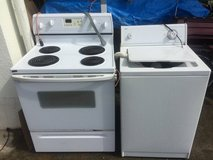 Whirlpool electric 200v stove and roper washing machine in Okinawa, Japan