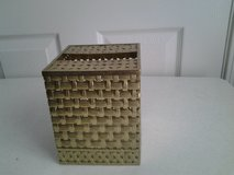 Gold Metal Basket Weave Square Tissue Box Cover in Eglin AFB, Florida