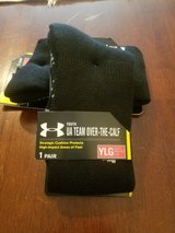 2 Pair Black Under Armour Sports Socks YL in Fort Campbell, Kentucky