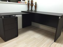 DESK  & Leather Chair Avail 15 Dec in Okinawa, Japan