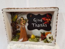 """Thanksgiving; """"Give Thanks"""" shadow box frame in Joliet, Illinois"""