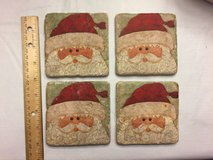 Stone Santa Coasters in Sandwich, Illinois