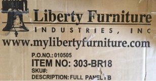 Liberty FurnitureOcean Isle Full  Size Panel Footboard in Naperville, Illinois