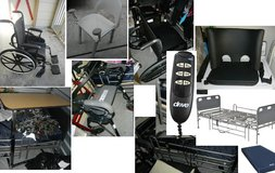 Wheelchair / Hospital Bed / Rollator Walker / Overbed Table Tray / Shower Chair / Double Footrest in Houston, Texas