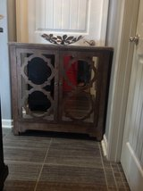 New! Wood Accent Mirrored Cabinet Nightstand Table in Clarksville, Tennessee