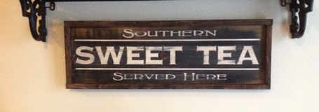 SWEET TEA HAND PAINTED WOOD SIGN in Camp Lejeune, North Carolina