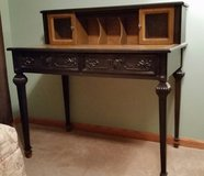 Black and brown wood desk in Elgin, Illinois