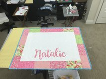 Handmade personalized baby quilt in Byron, Georgia