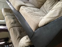 2 Piece tan microfiber couch in Sugar Grove, Illinois