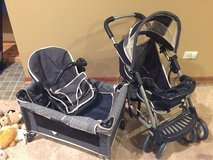 Graco baby doll pack-n-play, stroller, and car seat in St. Charles, Illinois